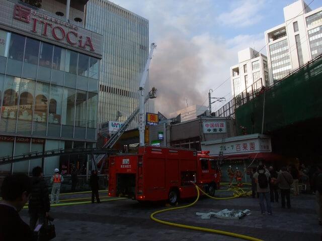 火事にあった建物の解体