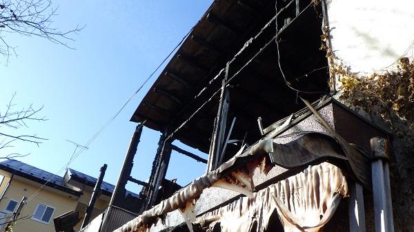 火災に遭ってしまった家屋