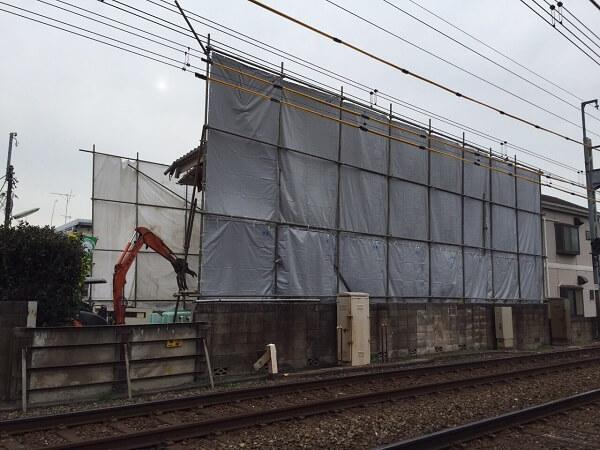 【東京都杉並区】線路に近接した建物の解体工事の実体験