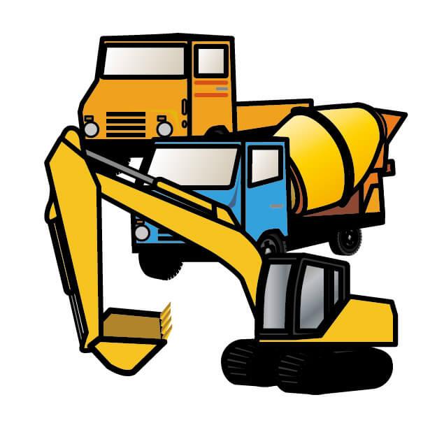 解体工事の重機
