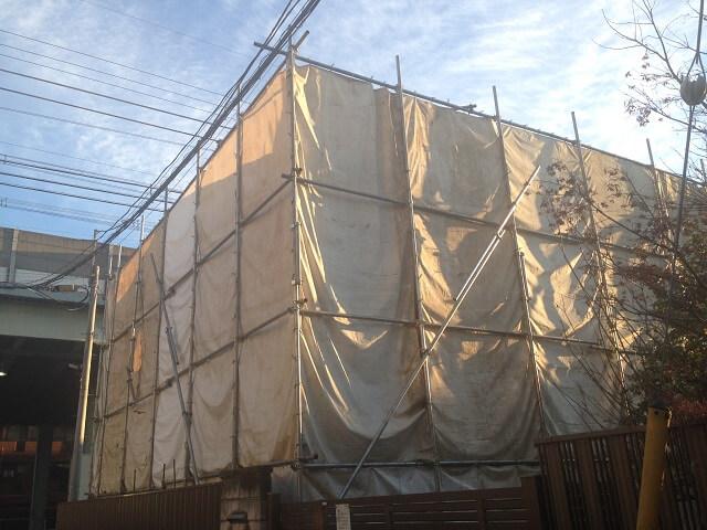 解体工事の防音