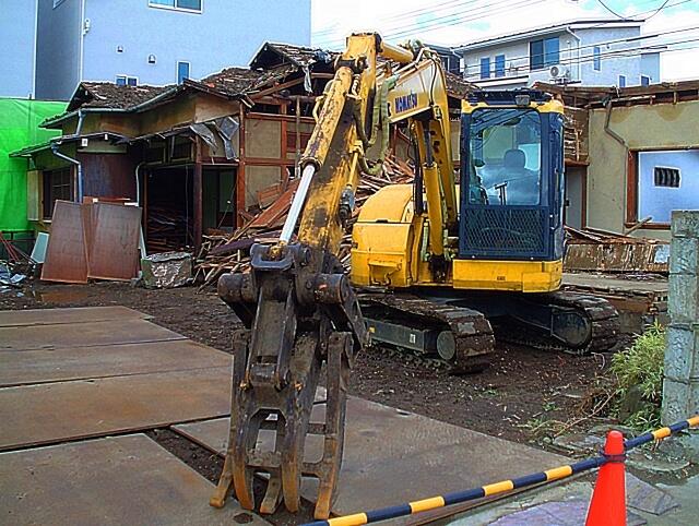 住まなくなった家の解体工事