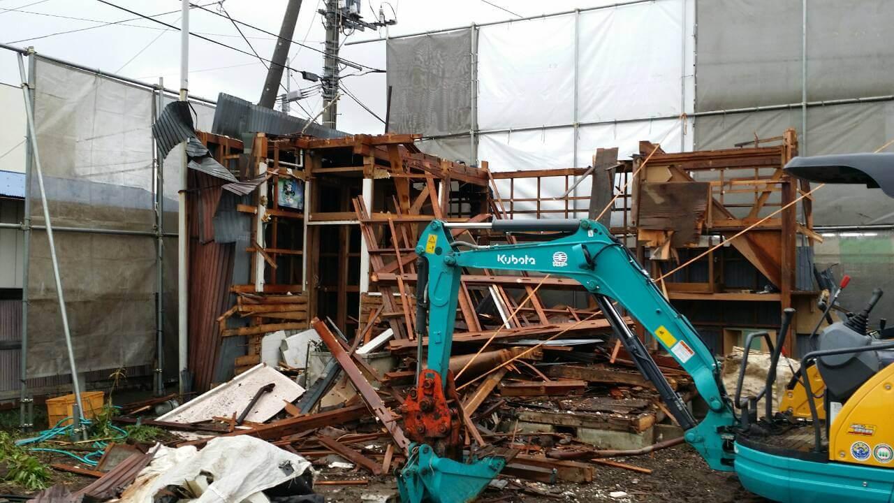 解体工事の滅失登記