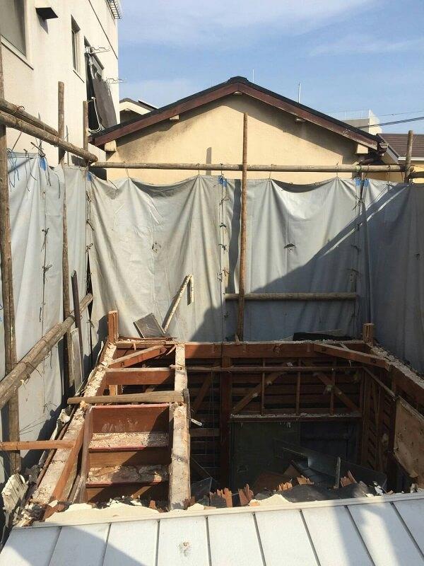 2階部分の解体工事