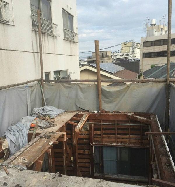 3階部分の解体工事
