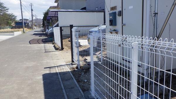 サービスで設置したフェンス2
