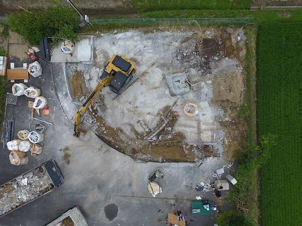 ドローンを使用した上空からの空撮写真