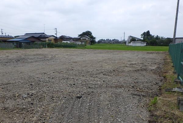 工事完了後の更地の写真