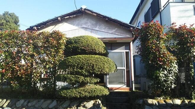 神奈川県川崎市・狭い高台に建つ小屋の解体工事が低価格でできました