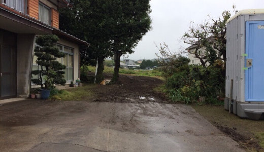 群馬県渋川市・悪天候でもスピーディに物置小屋解体工事ができました