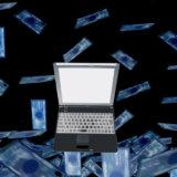 暗闇とパソコン