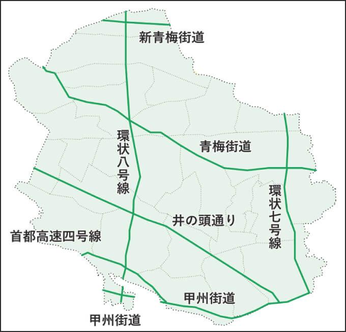 杉並区の特定緊急輸送道路