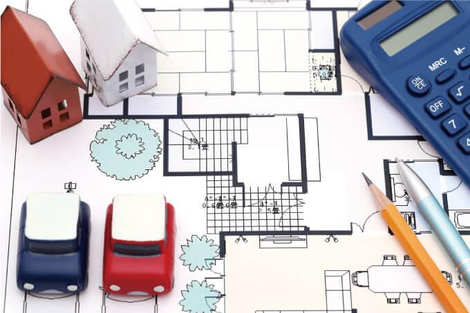 新築の設計図