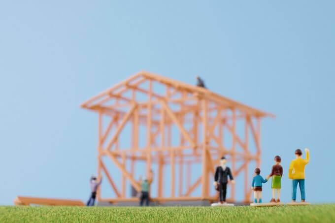 家の骨組み模型