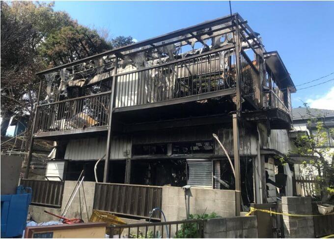 火災後の家