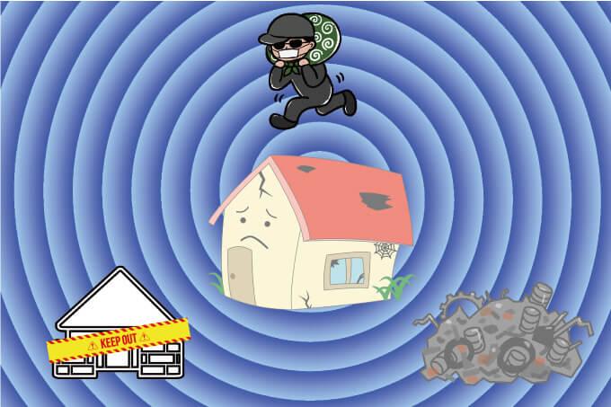 空き家は色々な犯罪を招く