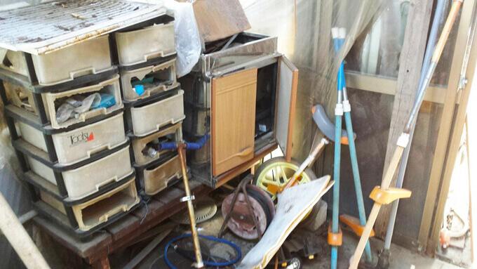 室外残置物の写真