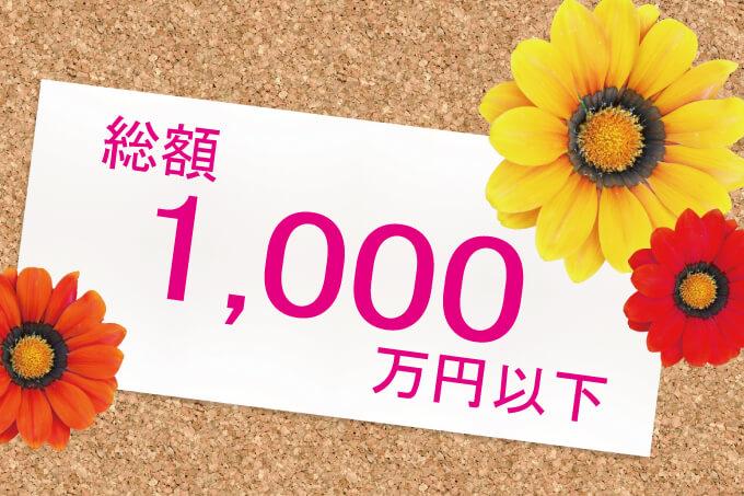 総額1,000万円以下