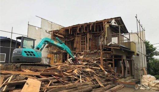 千葉県船橋市で約55坪の木造2階建て住宅を解体工事しました