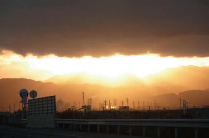 北斗市の夕焼け