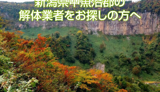 新潟県中魚沼郡のおすすめ解体業者をお探しの方へ