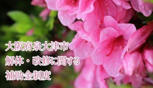 大阪府泉大津市の解体と改修にともなう家の補助金制度